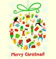 christmas card with shopping people winter vector image vector image