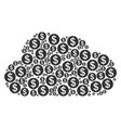 cloud figure of money icons vector image