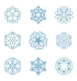 collection of blue snowflakes winter vector image vector image