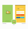 company chicken meat splash screen and login page vector image vector image