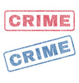 crime textile stamps vector image vector image