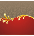 decorated golden frame vector image vector image