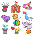 doodle of circus colorful style vector image vector image