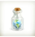 Earth in a bottle icon vector image vector image