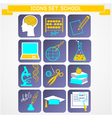 education icons set infographics vector image