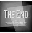 End Credits Film noir styled abstract screen The vector image vector image