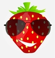 Funnt sweet tasty strawberry in sunglasses vector image vector image