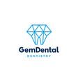 gems dental logo for dentist and dentistry vector image vector image