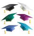 graduate student caps collection in different vector image