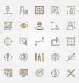 graphic design colored icons set - design vector image vector image