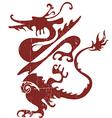 Grunge dragon vector image