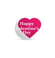 happy valentines day heart icon logo isolated on vector image