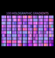 holographic gradient colorful background hologram vector image vector image