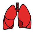 human lungs symbol vector image