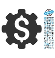 Industrial Capital Flat Icon With Bonus vector image vector image