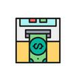 insert credit card bank atm cash vector image vector image