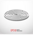 labyrinth abstract 3d vector image vector image
