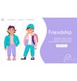 landing page friendship concept friends vector image vector image