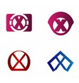 Letter X logo icon design template elements vector image