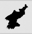 map north korea isolated vector image