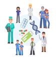 medical prescription drugs banner vector image vector image