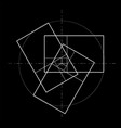 minimalistic style design golden ratio geometric vector image