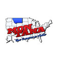 montana state with us state on american vector image vector image