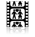 Movie date vector image vector image
