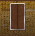 old brick wall wood sheet vector image vector image