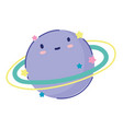 planet solar system space cartoon icon design flat vector image vector image