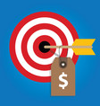 pricing strategy price tag on consumer target vector image vector image