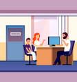 principal office mom apprentice teacher meeting vector image vector image