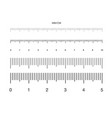 ruler measuring scale markup for rulers vector image vector image