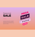 sale banner template design web banner with neon vector image