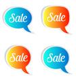 Sale speech bubbles vector image vector image