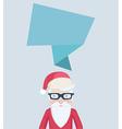 Santa Claus card design with a speech bubble vector image vector image