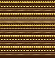 seamless pattern gold jewelry chains and beads vector image vector image