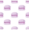 Seamless pattern with macaroons Hand-drawn vector image