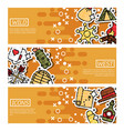 set of horizontal banners about wild west vector image vector image