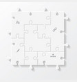 set of puzzle pieces jigsaw business infographics vector image vector image