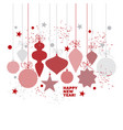 simple traditional red geometric xmas tree baubles