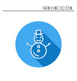 snowman thin line icons set new year celebration vector image vector image