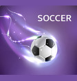 soccer football tournament poster vector image vector image