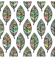 soft colored ethic mexican leaf seamless pattern vector image vector image