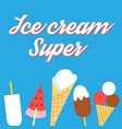 super delicious ice cream poster vector image vector image