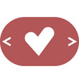 the heart and cardiogram icon vector image