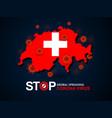 virus around switzerland vector image