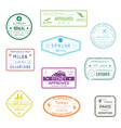 visa passport signs or rubber stamps for documents vector image vector image