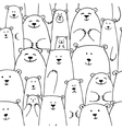 White bears family seamless pattern for your vector image vector image
