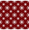 White Christmas snowflakes red seamless pattern vector image vector image